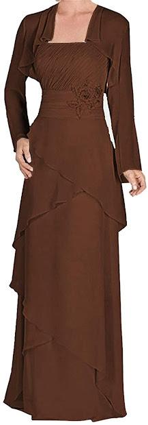 Elegant Brown Mother of The Groom Dresses