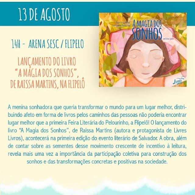 Movimento Livres Livros lança obra para crianças na Flipelô