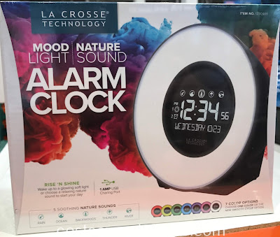 Costco 1230466 - La Crosse Mood Light & Nature Sound Alarm Clock: less annoying than conventional buzzer alarms