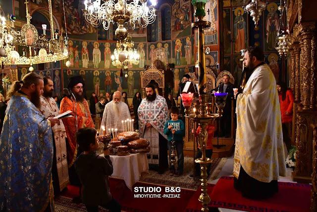 Την Παναγία την Γερόντισσα και τον Άγιο Πορφύριο τίμησαν στον Ιερό Ναό των Αγίων Κωνσταντίνου και Ελένης στο Ναύπλιο