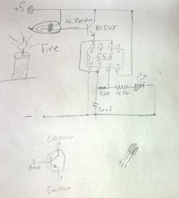 دائرة بسيطة بفكرة جديده لكشف وانذار الحريق