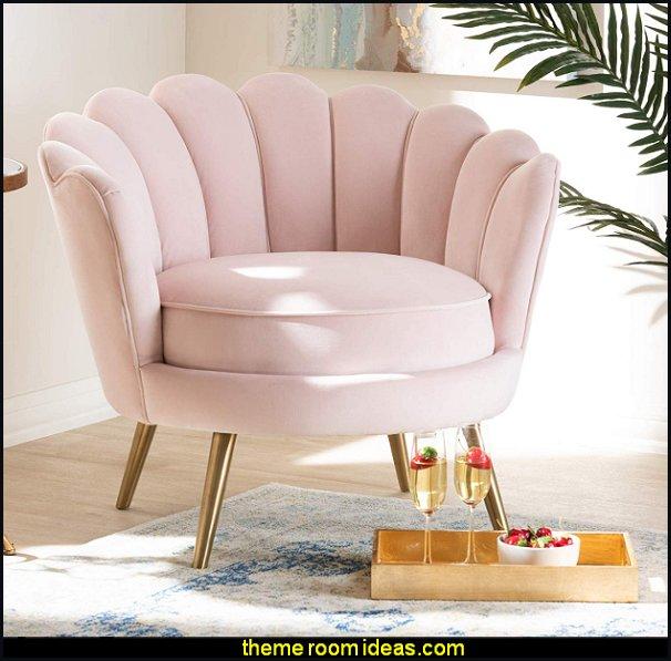Baxton Studio Chair, Pink blush pink decor plush pink decorating