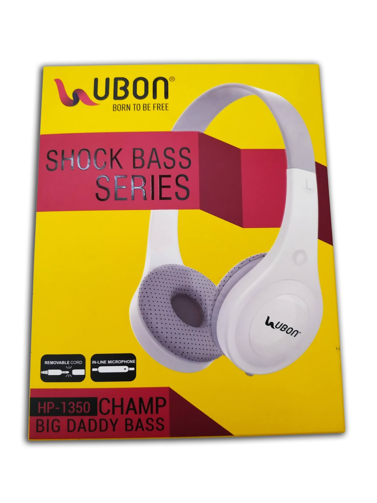 Ubon Shock Bass Series Hp 1350 Champ Headphones On Ear Wired Black White Febborn India S Favorite Online Shopping Mall