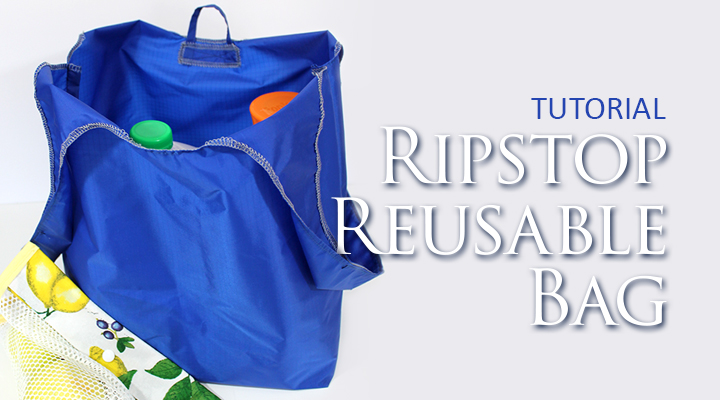 Great pictorial how to sew a reusable grocery bag from Ripstop Nylon! | Ripstop Reusable Bag by The Inspired Wren