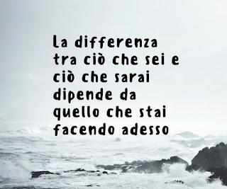 la differenza tra ciò che sei e ciò che sarai