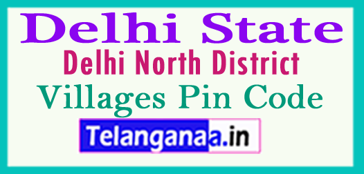 North Delhi District Pin Codes in Delhi State