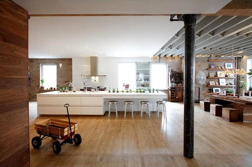 Tiny Home Designs: Home Design Minimalist: Modern Rustic Open Studio Space