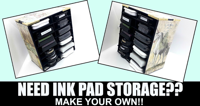 Handmade ink pad storage, positivelypapercraft