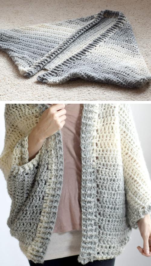 Crocheted Easy Shrug Wrap - Free Pattern