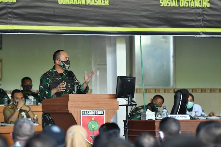 Pangdam Hasanuddin Ajak Aparat Pemerintah Bertempur Lawan Covid-19