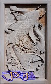 Relief ikan hias batu alam gambar timbul