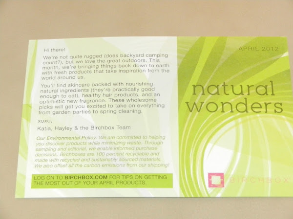 Birchbox Review: April 2012