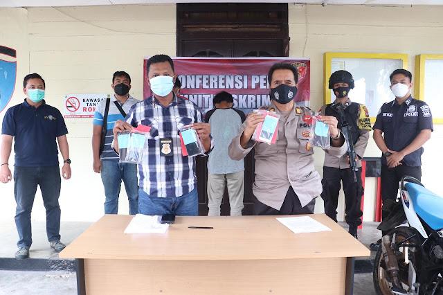 Polsek Dabo Singkep Amankan Tiga Orang Tersangka Yang Diduga Melakukan Pencurian di Pesantren Baitul Qur'an Dabo Singkep
