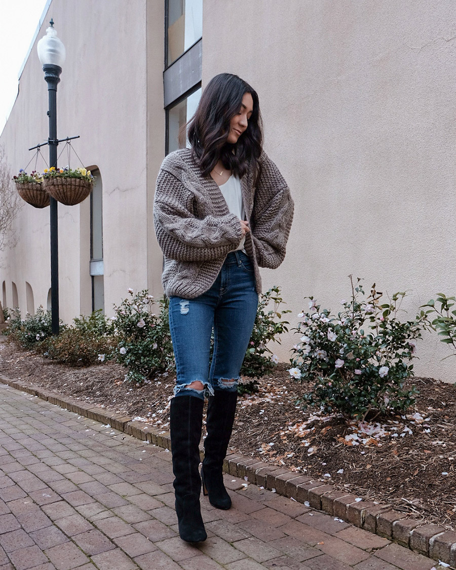 dolce vita coop knee high boots outfit review
