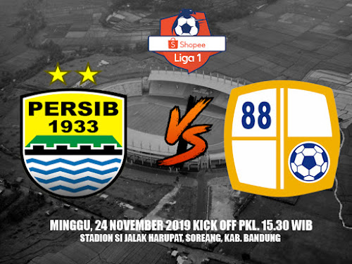 Persib VS Barito Putera 24 November 2019