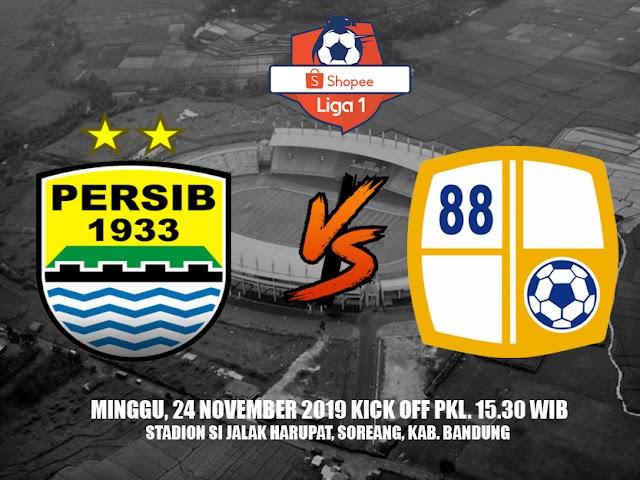 Harga Tiket Pertandingan Persib VS Barito Putera yang Digelar Minggu, 24 November 2019