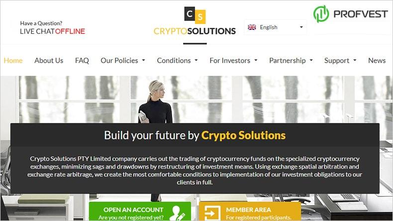 CryptoSolutions обзор и отзывы HYIP проекта cryptosolutions.biz