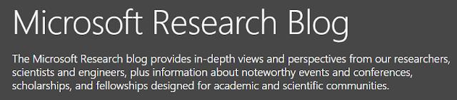 cabecera del blog de Microsoft research lab