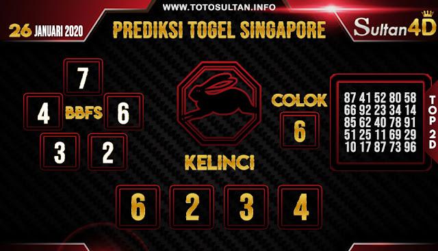 PREDIKSI TOGEL SINGAPORE SULTAN4D 26 JANUARI 2020