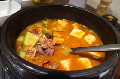 ChoWon Garden, beef brisket jigae