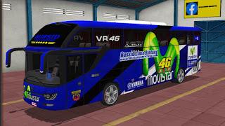46 Valentino Rossi, Skin Pembalap Moto GP Untuk Game Bus Simulator Indonesia!