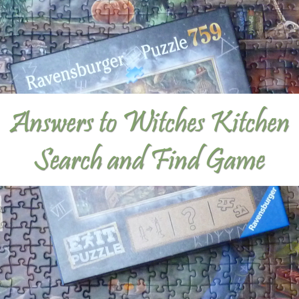 SPOILER ALERT: Witches Kitchen Jigsaw Puzzle Search and Find Answers PuzzleHour Game Ravensburger Jigsaws Look Hunt Puzzles