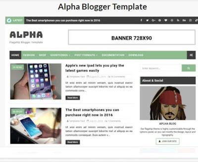 Alpha Free Premium Blogger Template