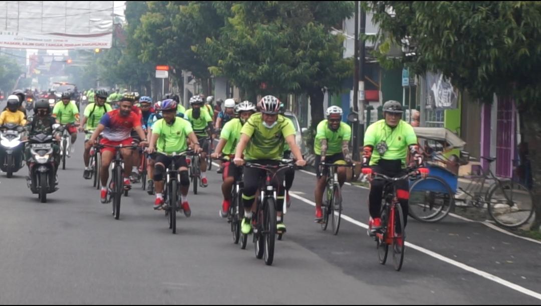 Bersepeda, Danrem 071/WK Sambangi Kodim Purbalingga