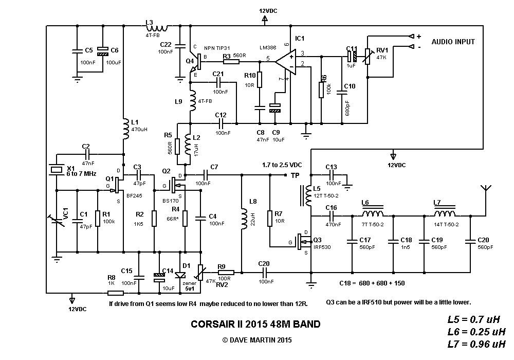 Corsair AM transmitter, component help ? | Free Radio Forum