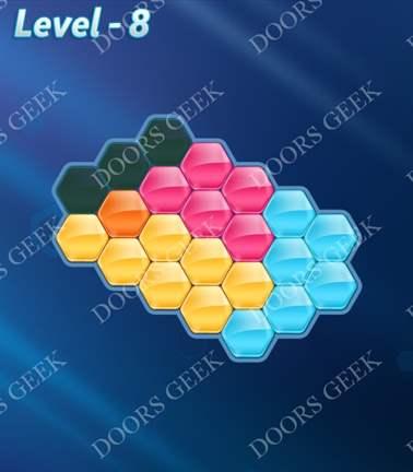 Block! Hexa Puzzle [5 Mania] Level 8 Solution, Cheats, Walkthrough for android, iphone, ipad, ipod