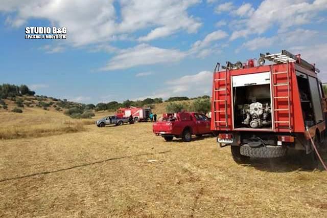 Φωτιά νωρίς το απόγευμα πήρε στον Προφήτη Ηλεία Κουτσοποδίου, επιχείρησε άμεσα η Π.Υ. Άργους με τρια  οχήματα και 8 άντρες και την έλεγξαν αμέσως. Η πυρκαγιά κατέκαψε χορτολιβαδική έκταση  ,η ζημιά που προκλήθηκε ήταν μικρή λόγω της άμεσης παρέμβασης.