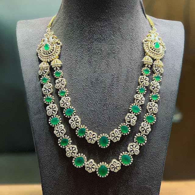 Emerald Bridal Sets by Satyanarayana Jewels