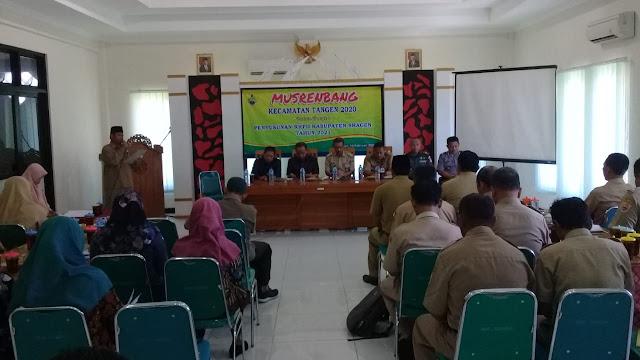 Kodim Sragen - Musrenbang Kecamatan Tangen Penting untuk Perencanaan Pembangunan 2021