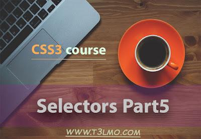 الجزء الخامس من selectors