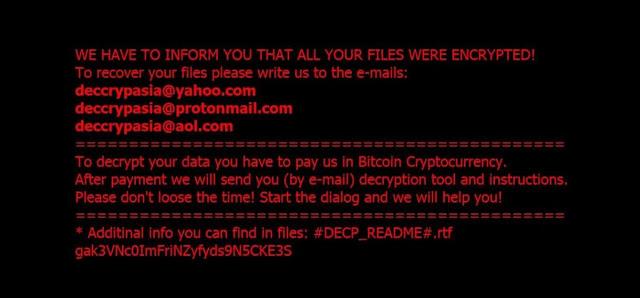 .DECP File Ransomware Virus