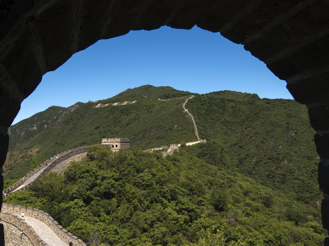 Mutianyu Great Wall of China viewed from one of the towers