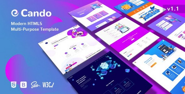 Cando v1.1 - Creative Multi-Purpose HTML Template