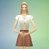 knitted flare skirt & tucked top 2type_니트 플레어 스커트 & 넣어입는 탑 2가지_여성 의류