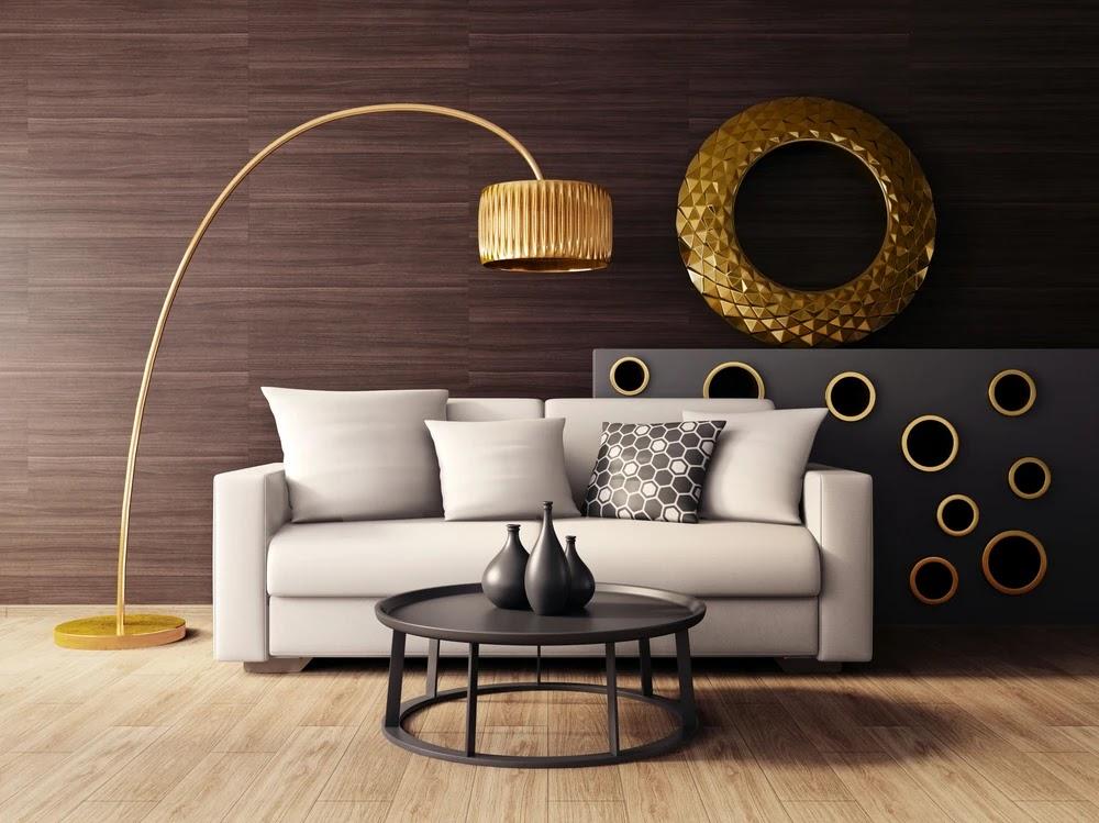 اللون الذهبي في ديكورات المنزل