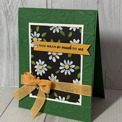 Handmade floral greeting card using Stampin' Up! Designer Series Paper