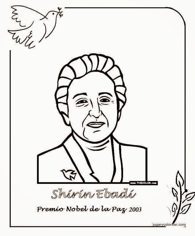 Maestra de Primaria: Premios Nobel de la Paz para colorear