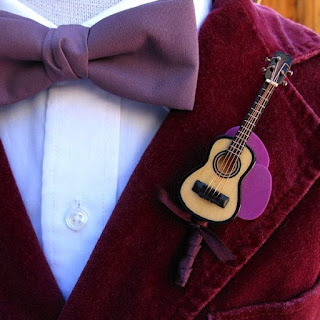 Guitar boutonniere idea-boutonniere alternatives-wedding ideas-wedding theme-Weddings by K'Mich
