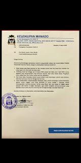 Cegah Covid -19 , Himbauan Uskup Manado   Seluruh Kegiatan ditiadakan, Para Pastor tetap Misa dan akan disiarkan Live Streaming
