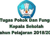 Tugas Pokok Dan Fungsi Kepala Sekolah Tahun Pelajaran 2018/2019