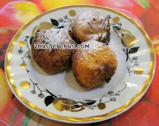 творожные пончики быстрый десерт к чаю