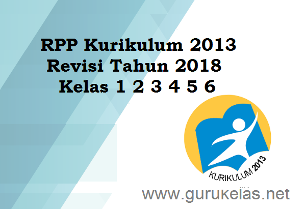 RPP Kelas 1 2 3 4 5 6 Kurikulum 2013 Revisi 2018
