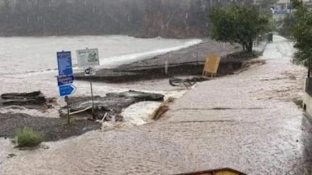 Μεγάλες καταστροφές στη Βόρεια Εύβοια από τις ισχυρές βροχές