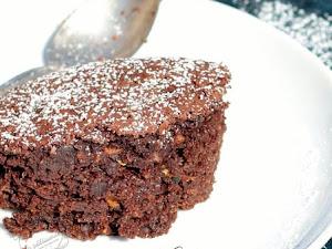 Gâteau au chocolat à la courgette {sans beurre}