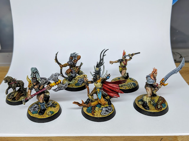 Finished Godsworn Hunt warband
