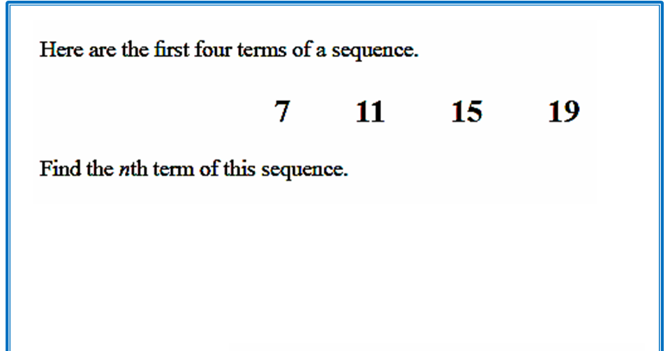 write an expression to describe the nth term of an arithmetic sequence